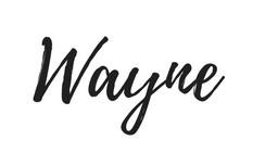 Wayne, handwritten