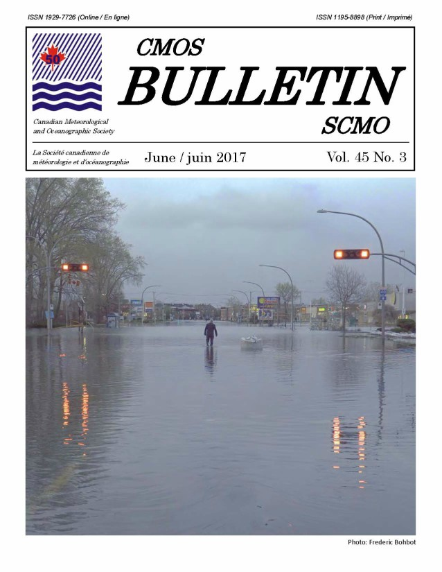 Cover image is a photograph of a man walking away from the camera down a deserted, flooded, city street.