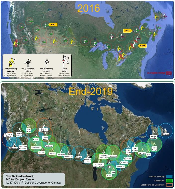 Satellite maps of Canada